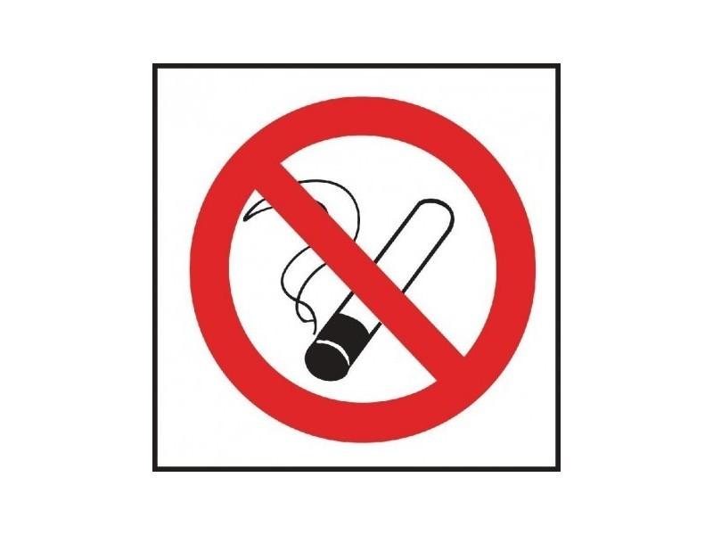 Autocollant interdiction de fumer vogue - 100 x 100 mm -