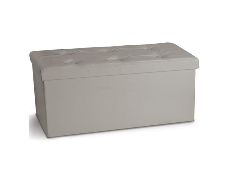 banc coffre rangement pvc taupe 76x38x38 cm pliable vente de id market conforama. Black Bedroom Furniture Sets. Home Design Ideas