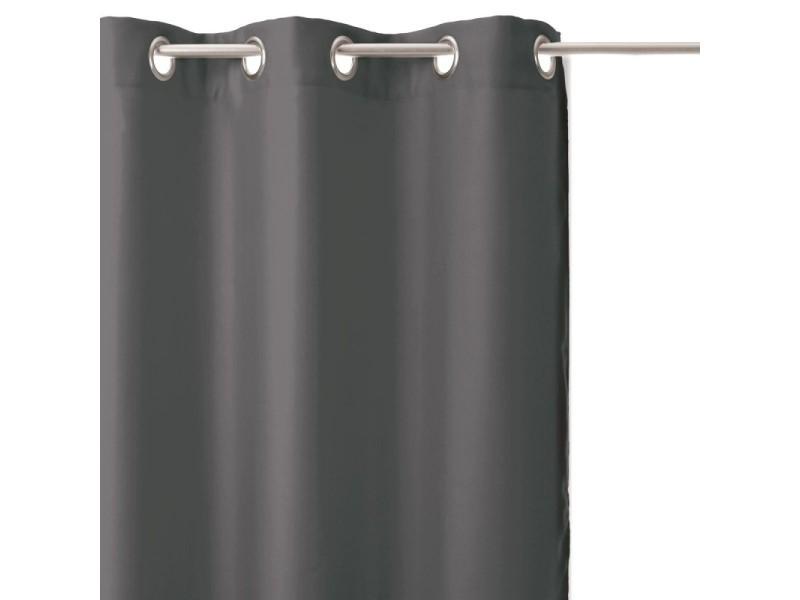 Rideaux occultants x2 135x240cm gris foncé