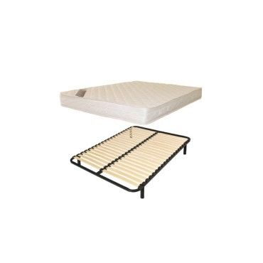 lit 2 personnes 140x190 sommier lattes matelas confort vente de france matelas conforama. Black Bedroom Furniture Sets. Home Design Ideas