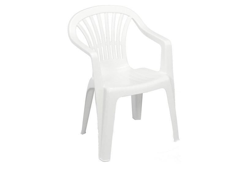 Chaise de jardin altéa - blanche - Vente de SUNNYDAYS ...