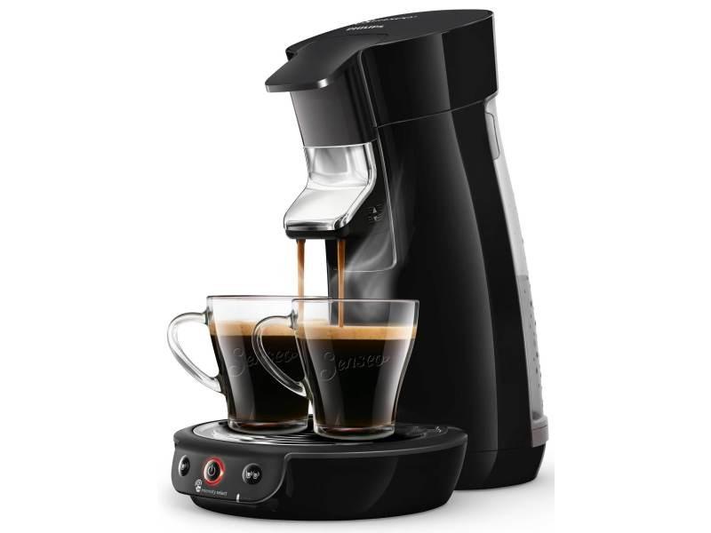 Philips cafetière à dosettes senseo viva café noir intense 1450w 2 tasses hd6563/64