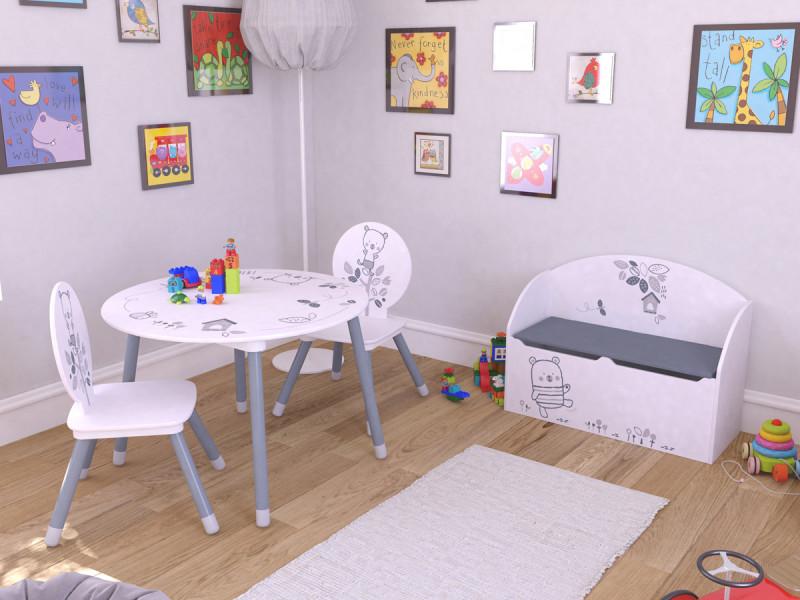 Set table + 2 chaises \