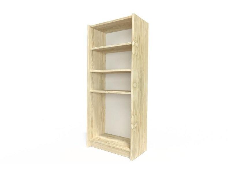 Étagère bibliothèque bois brut ETABIB-B