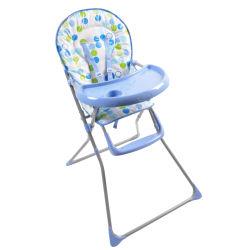 Chaise haute king bear - coussin imprimé plateau bleu