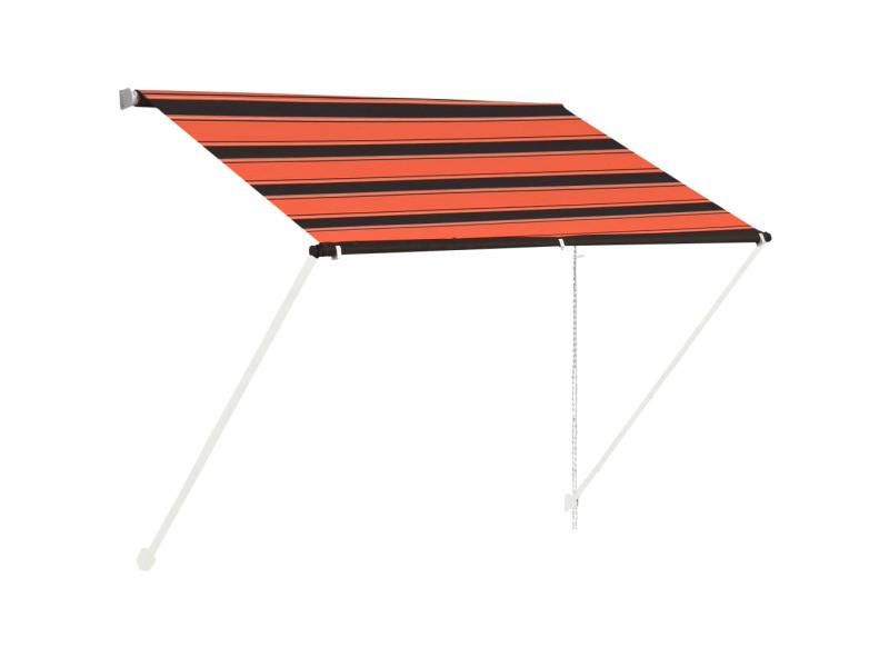Vidaxl auvent rétractable 100x150 cm orange et marron 145893