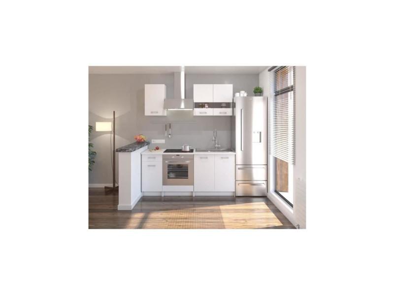 Cuisine complete l 180 cm - blanc mat - extra 202Z18201