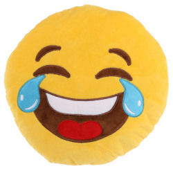 Peluche coussin moelleux emojiv pleure de rire