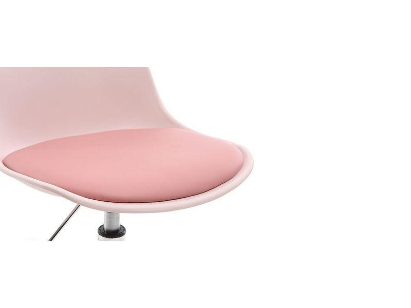 Chaise de bureau design enfant rose steevy Vente de TESORO