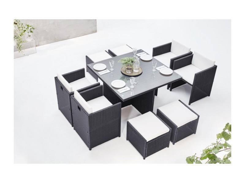 Salon de jardin family 8 gris/blanc LSR-310-GR/WH 4C4Fbobochic ...