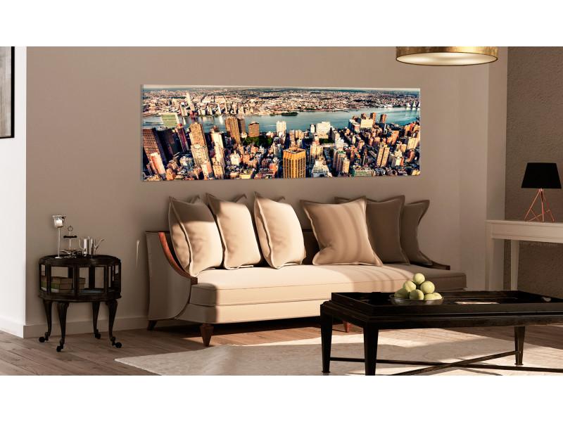 120x40 tableau new york villes inedit panorama of new york