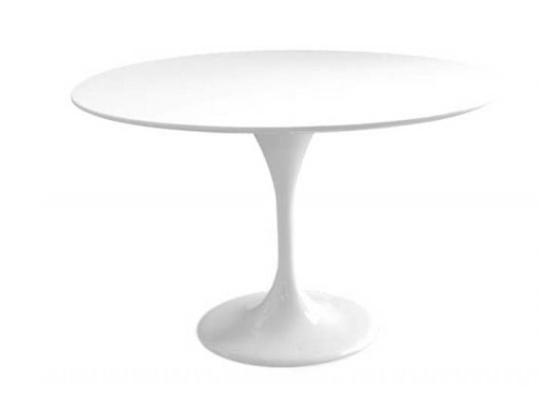 table ronde de repas design tulipe laqu e blanc 120 cm 20100827343 vente de table basse. Black Bedroom Furniture Sets. Home Design Ideas