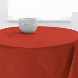 Nappe ronde uni pes 140 cm rouge diamètre 140 les ateliers du linge