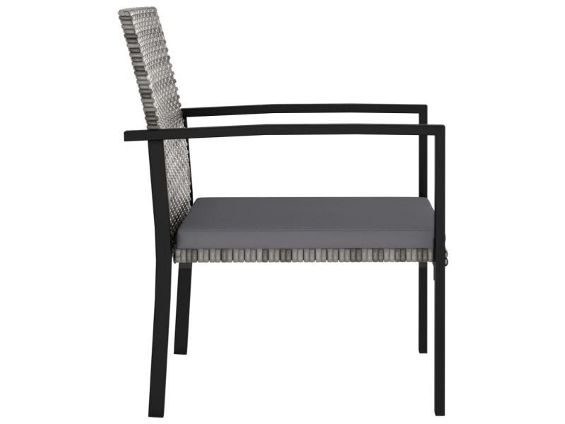 Vidaxl chaises de salle à manger de jardin 4 pcs résine tressée gris 315113