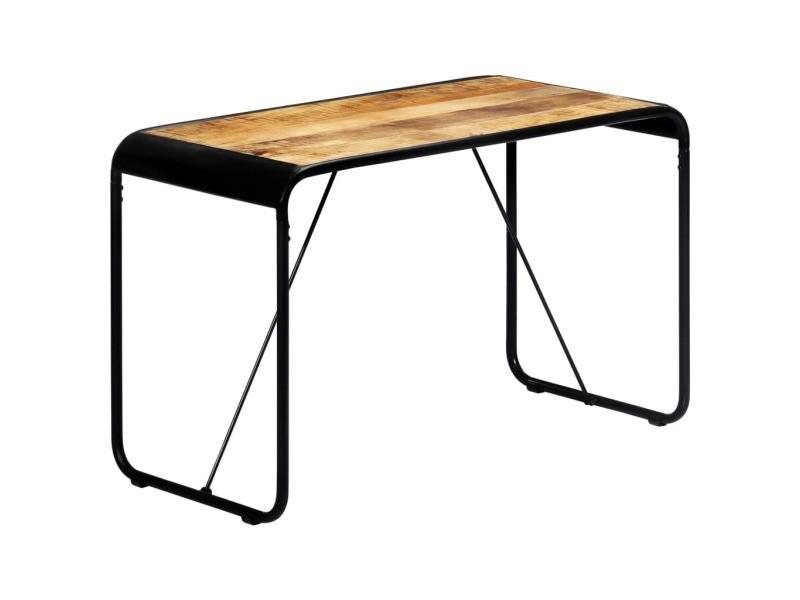 Joli tables categorie palikir table à dîner 118x60x76 cm bois de manguier massif brut