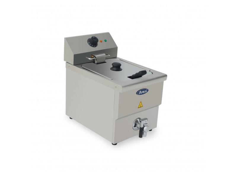 Friteuse à poser en inox avec vidange 8 l - h 395 à 430 mm - atosa - 430 mm