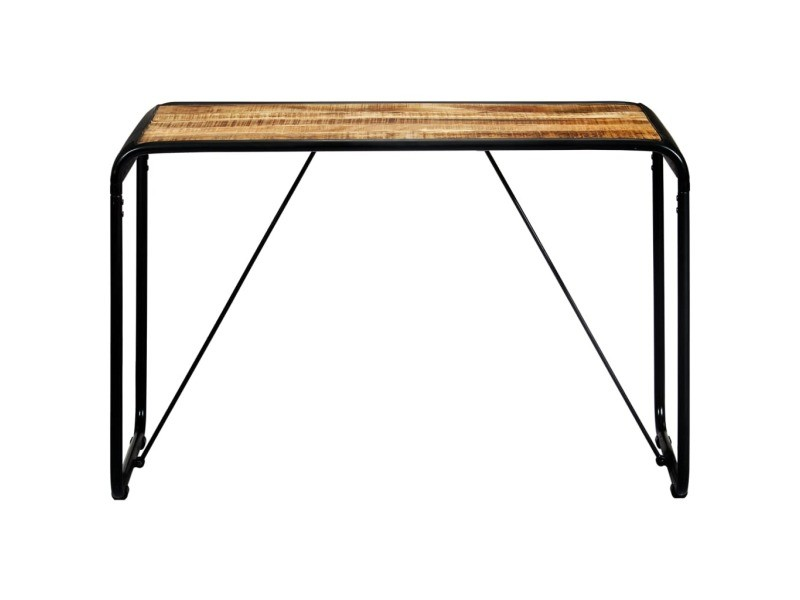 Vidaxl table à dîner 118x60x76 cm bois de manguier massif brut 247868