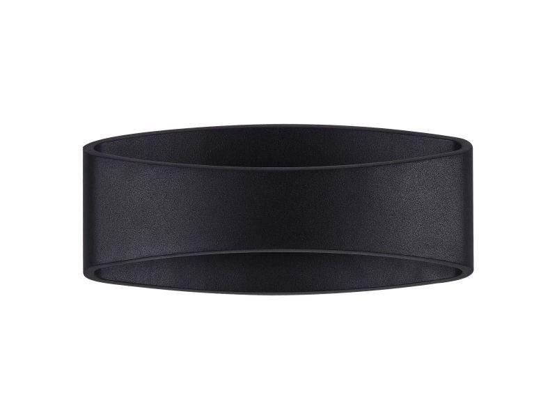 Applique dextérieur design ovale en métal noir mode conforama