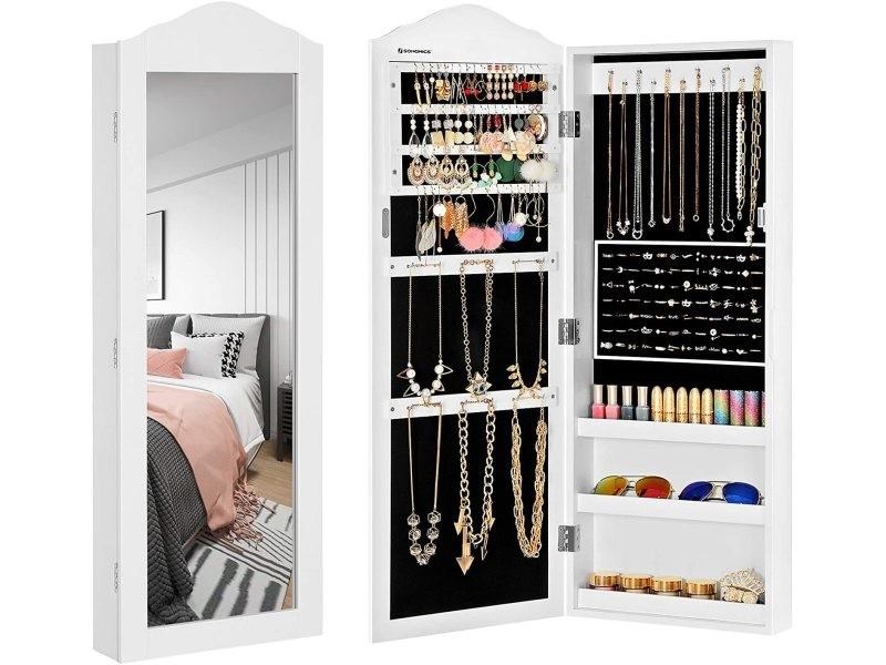 Armoire à bijoux armoire murale rangement blanc jbc83w ...
