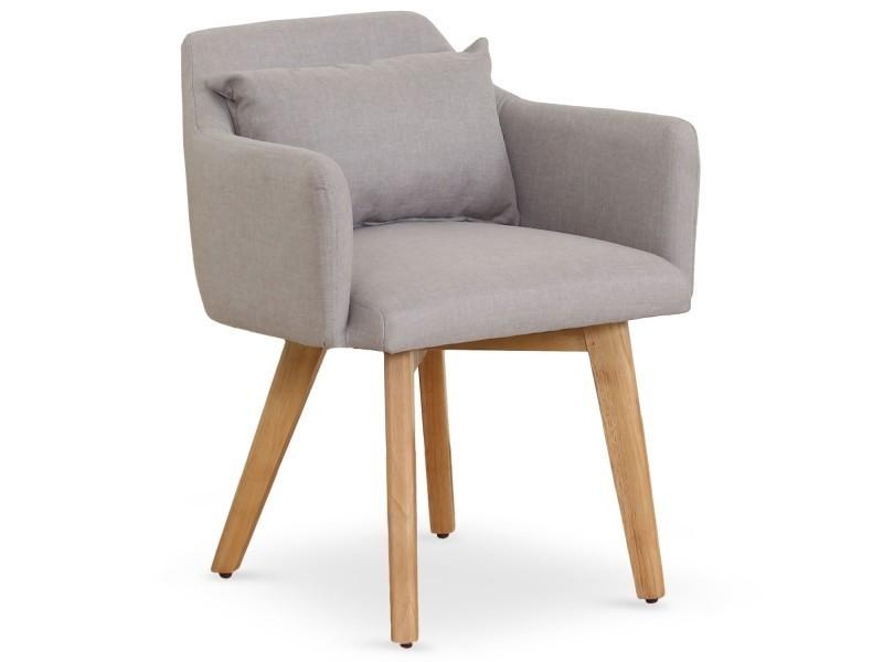 tissu scandinave gybson beige Chaise Vente fauteuil de OkZiTPXu
