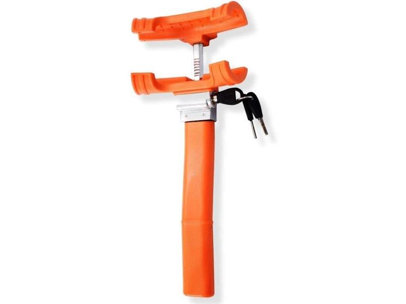 Giantex antivol de volant serrure verrouillage de volant dispositif de blocage pour volant orange