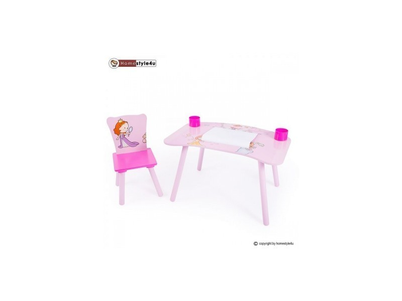 Bureau D Enfant Et Chaise Princesse 1111