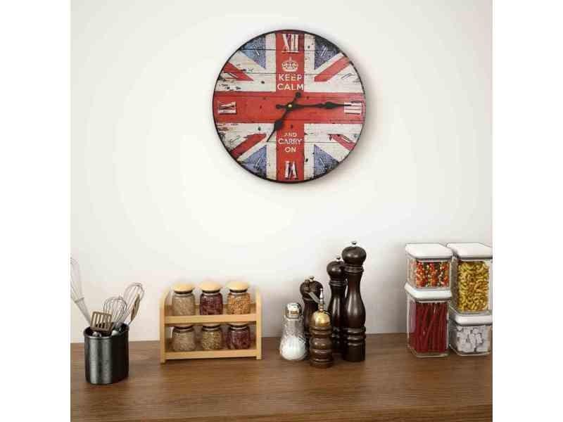 Icaverne Horloges Murales Ligne Horloge Murale Vintage De