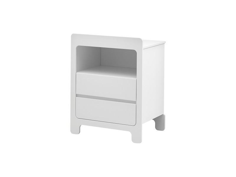commode collection moon couleur blanche - Commode Conforama