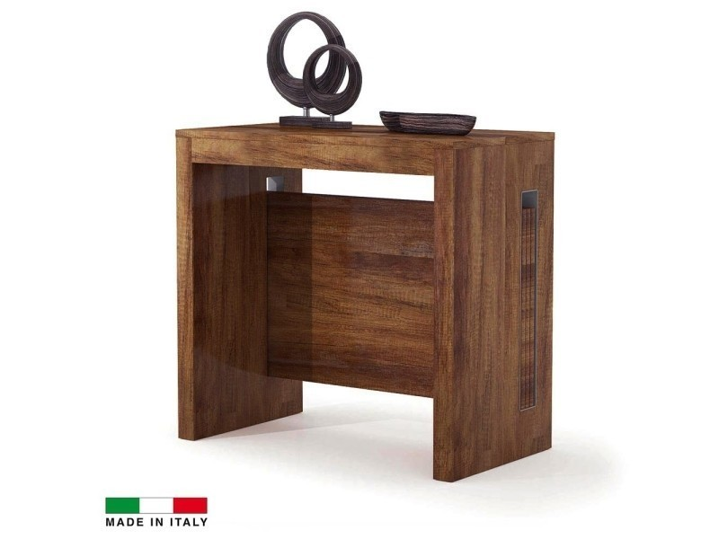 table console extensible grazia 3 allonges int gr es noyer vente de madeinitaly conforama. Black Bedroom Furniture Sets. Home Design Ideas