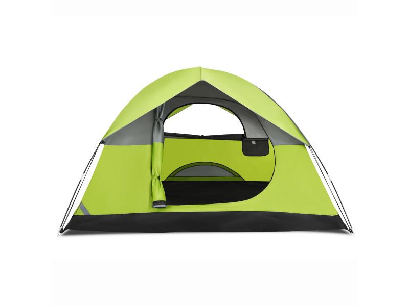 Tente de camping double couche tissu oxford imperméable sac 2 cordes coupe-vent 2 personnes
