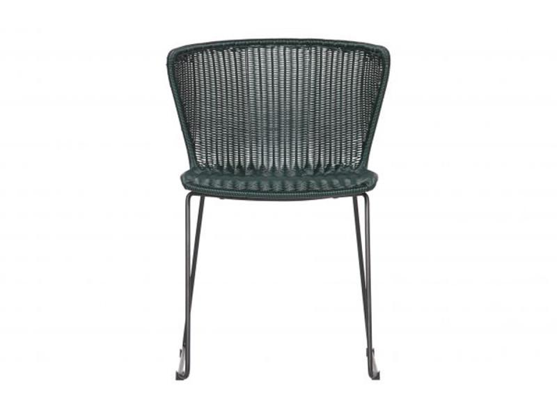 Lot de 2 chaises coloris vert en pe / métal - dim: 77.5 x 54.5 x 54 cm -pegane-