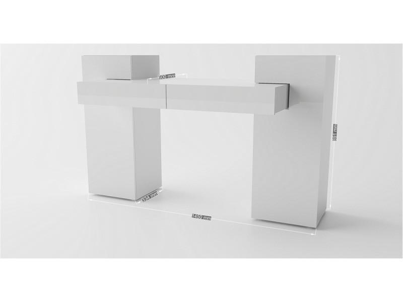 Meuble tv blanc laqué conforama frais bureau laqu blanc gallery
