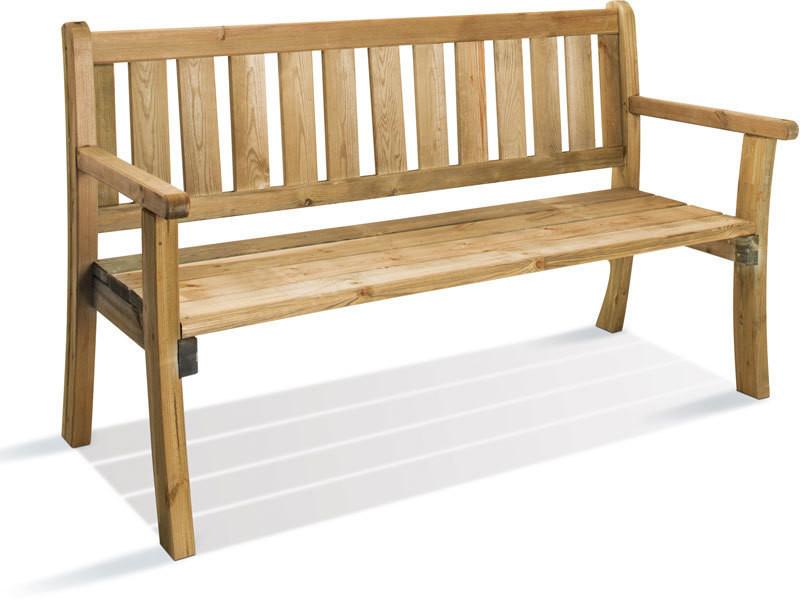 Banc de jardin en bois philadelphia 0100553