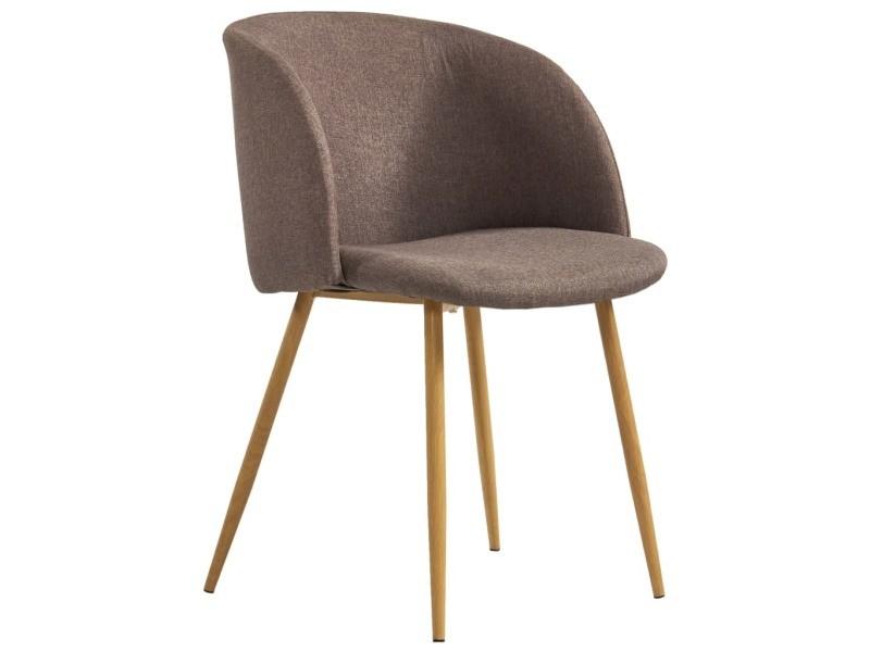 Vidaxl chaises de salle à manger 6 pcs marron tissu 278701