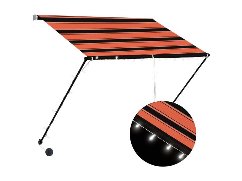 Vidaxl auvent rétractable avec led 100x150 cm orange et marron 145928
