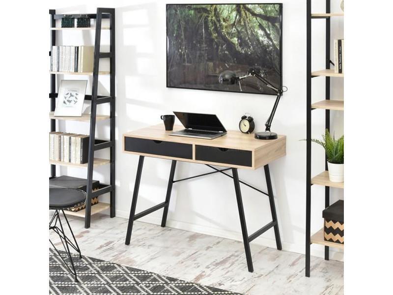 Bureau scandinave bureau design falun 100 cm noir effet
