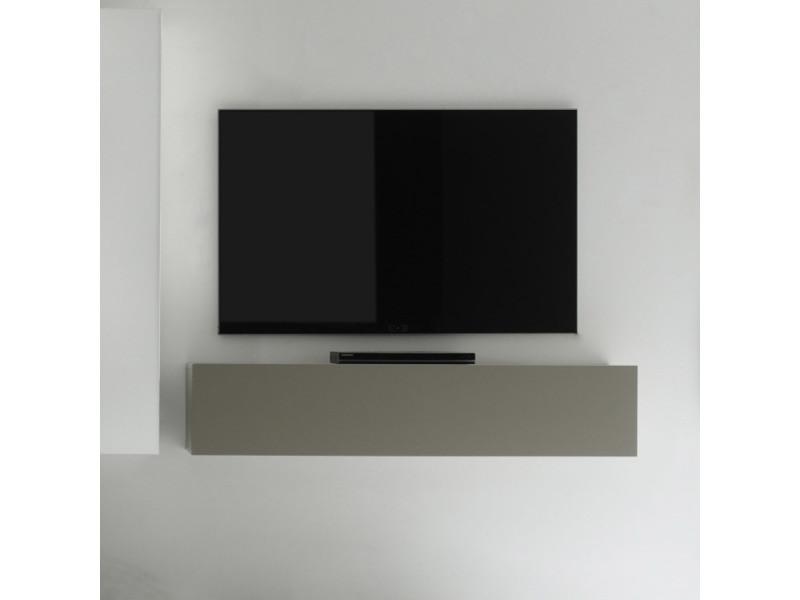 meuble tv suspendu gris design 140 cm cubo vente de. Black Bedroom Furniture Sets. Home Design Ideas