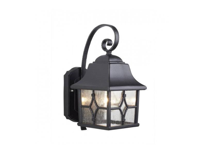 Applique kent aluminium noir et verre vente de luminaire center