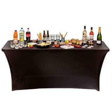 Housse nappe pour table pliante 180cm noir - Vente de Salon de ...