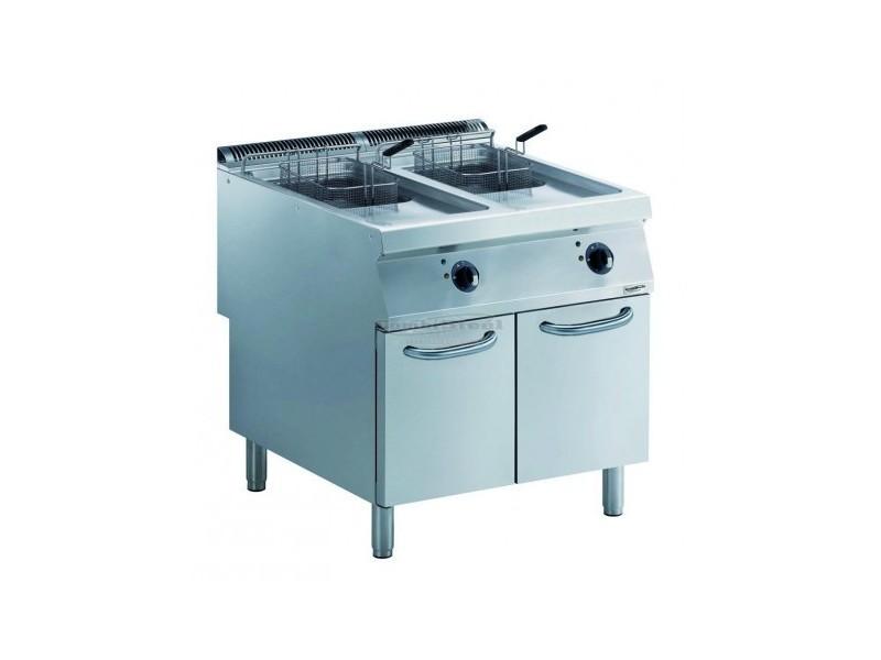 Friteuse électrique pro - 2 x 15 litres - 20 kw - combisteel -