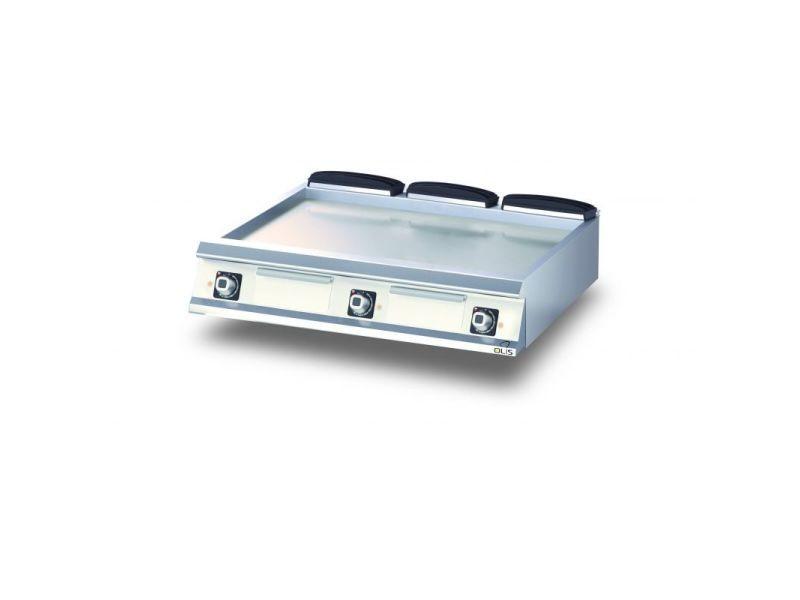 Plancha electrique lisse aisi 430 diamante 90 - 400 à 1200 mm - olis - acier 1200 mm