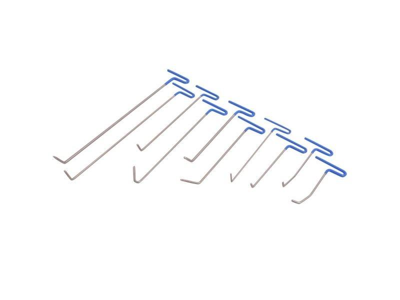 Icaverne - outils à main ensemble kit de débosselage sans peinture pdr 16 pcs acier inoxydable