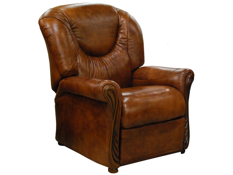 Fauteuil relax cuir manuel miami whisky