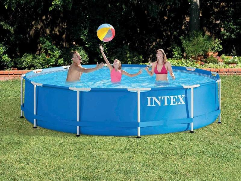 Piscine tubulaire metal frame ronde 4,57 x 0,84 m - intex