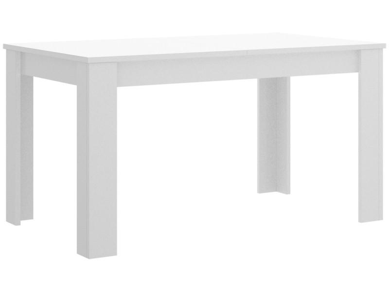Table de repas extensible coloris blanc brillant - dim : 77 x 90 x 140-190 cm -pegane-