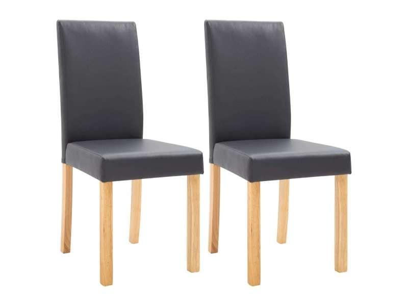 Icaverne chaises de cuisine famille 2 pcs chaises de salle