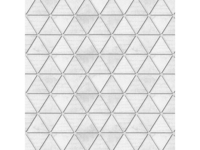 Papier peint intissé origami 1005 x 52cm blanc 10017868