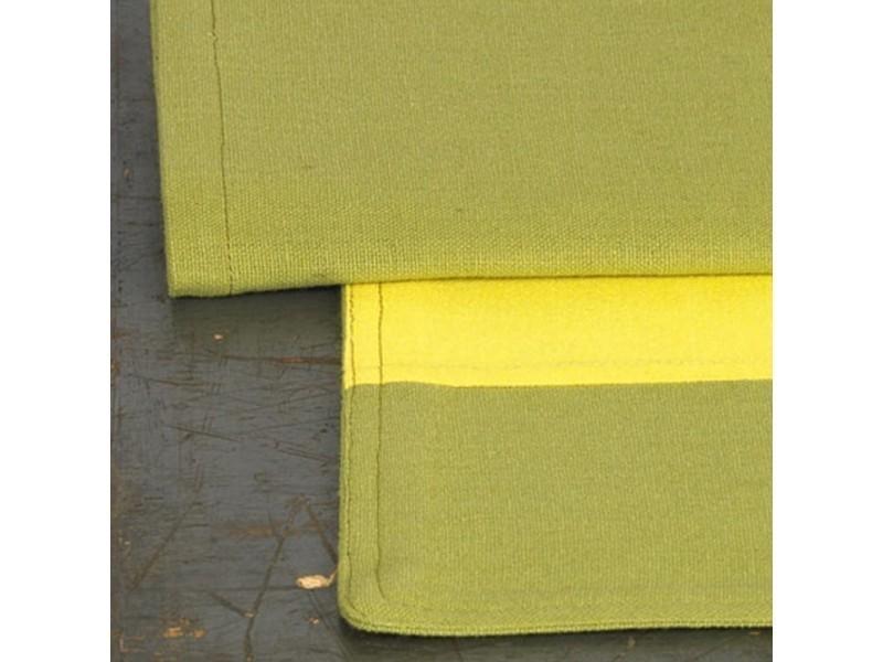 set de table cocina 45x33 cm avec serviette assortie damier vert et jaune vente de nappe. Black Bedroom Furniture Sets. Home Design Ideas