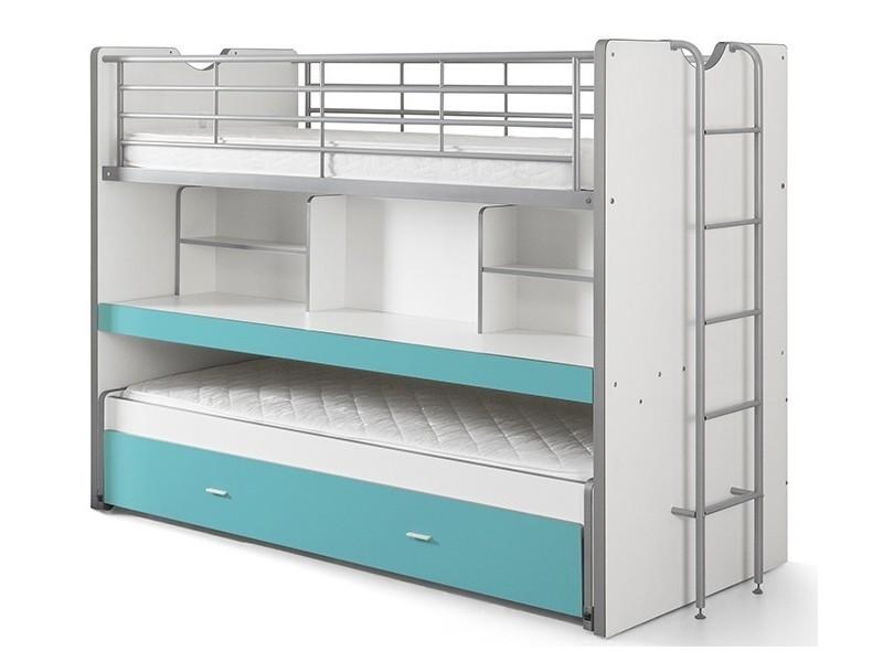 vipack lits superpos s bonny 2 couchages compact 80 turquoise bonhs8094 vente de lit enfant. Black Bedroom Furniture Sets. Home Design Ideas