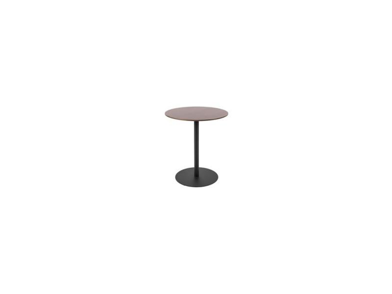 Table d'appoint bois et métal dot ø40 cm